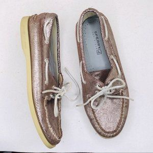 Sperry Topsider bronze reptile print